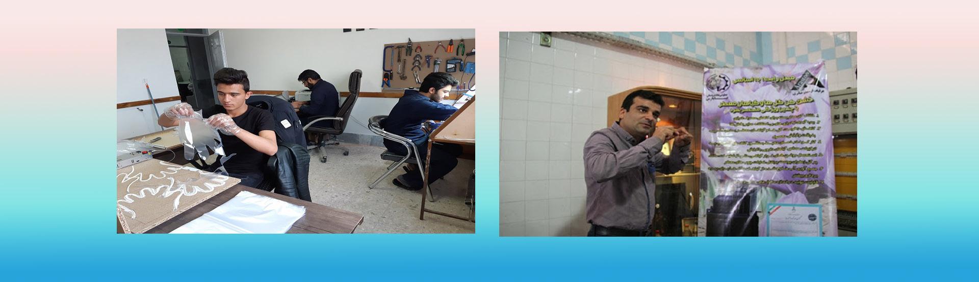 تولید الکل، دستکش و ماسک تلقی توسط فناوران مستقر در مرکز رشد قاین (کلیک کنید)