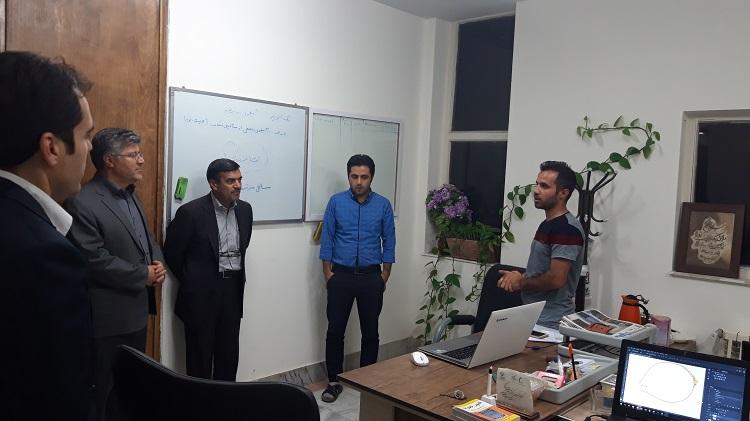 بازدید دکتر کریمیان اقبال از واحدهای فناور مستقر در مرکز رشد