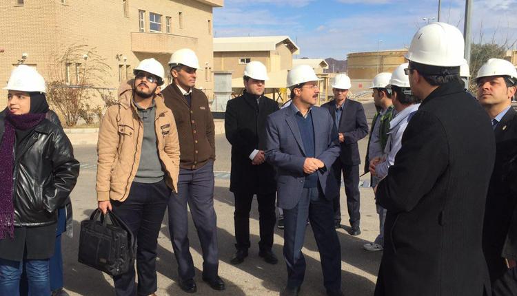 بازدید فناوران مرکز رشد و اعضای هیات علمی از نیروگاه شهید کاوه قاین