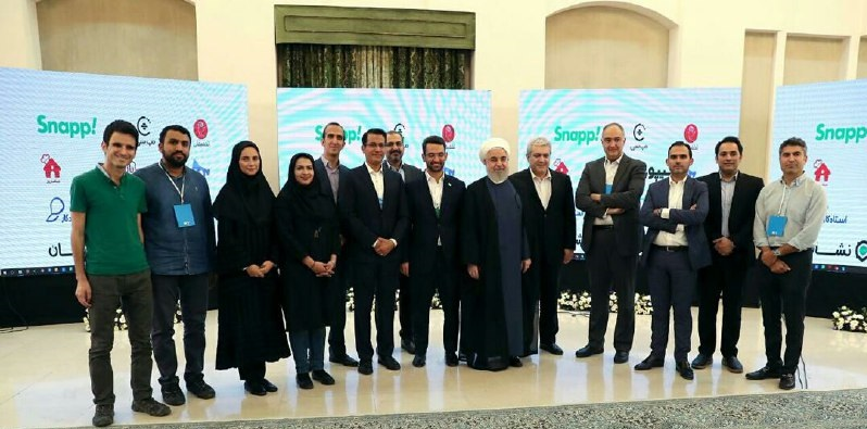 استارت آپ کشمون با دکتر حسن روحانی ریاست محترم جمهور دیدار کرد