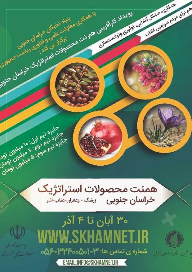 برگزاری رویداد کارآفرینی هم نت محصولات استراتژیک خراسان جنوبی